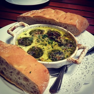 #kvpinmybelly Escargot at Cafe Rustica in Carmel Valley. Perfect pre-wine tasting meal! #foodstagram #foodspotting #CarmelValley #French