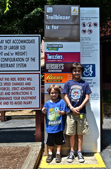 measuring kids - Hershey Park PA USA