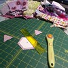 Making scrappy hexies #hexies #secrettotebagswap