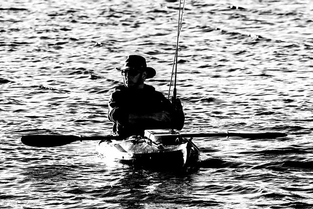 Fishing by kayak 2 bwext