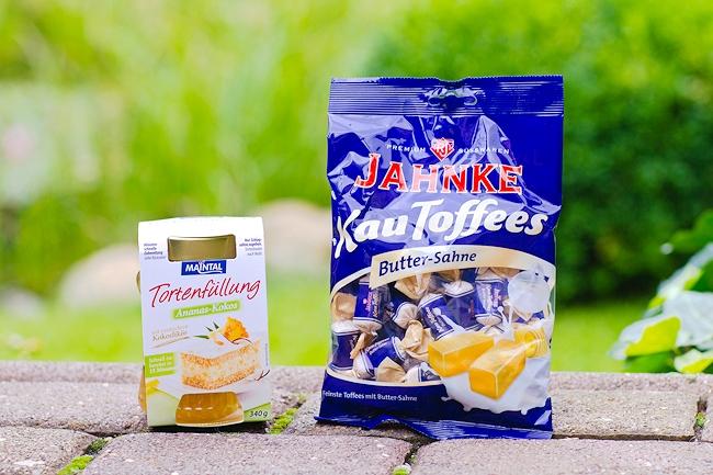 Inhalt Degustabox Juli, Maintal Tortenfüllung, Jahnke KauToffees