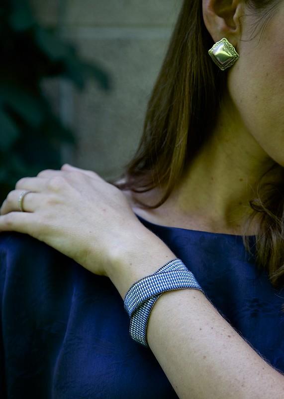 woven beaded wrap bracelet