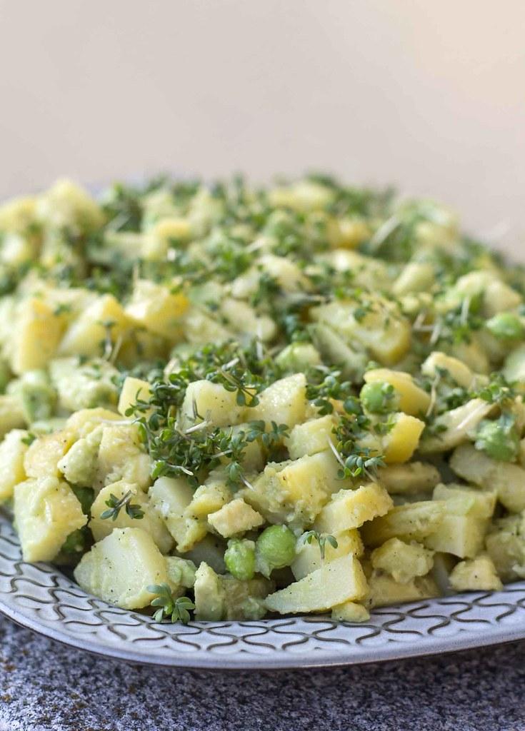Kartoffelsalat med avokado, citron og karse  (2)