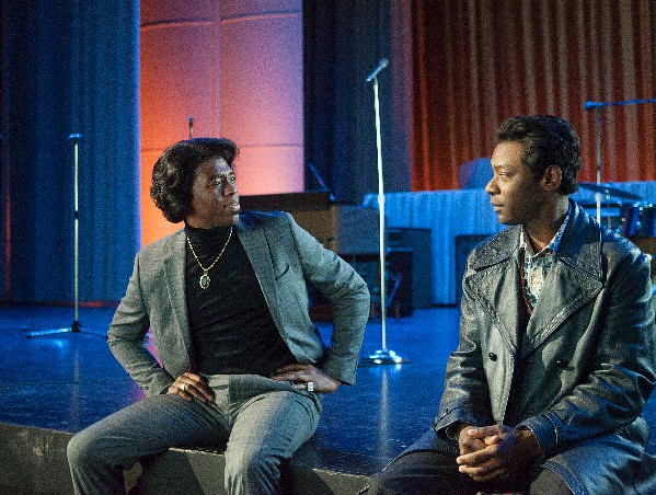 Chadwick Boseman and Nelsan Ellis offer an entertaining if incomplete portrait of James Brown in GET ON UP.