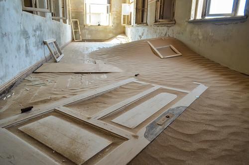 Kolmanskop ghost mining town - School