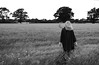 20140703-01b_Heading Out_Field Path - Cawston Rugby Warwickshire [b+w]