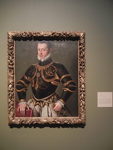 DSCN1152 _ Portrait of a Man in Armor, 1590s, Gervasio Gatti, Blanton Museum, Austin