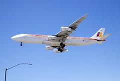 Airbus A-340, Iberia, EC-HCV, landing, LAX 24R  DSC_1143
