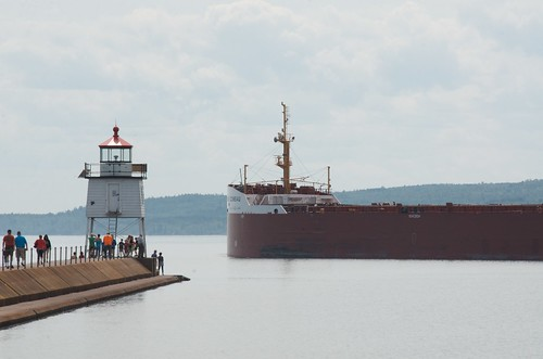 MV Baie Comeau departs Two Harbors