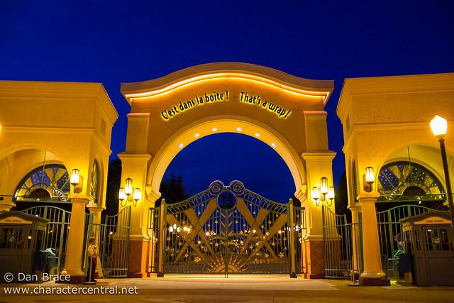 Walt Disney Studios by night