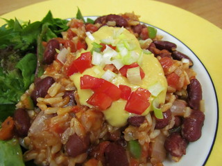 Salsa Rice and Red Beans