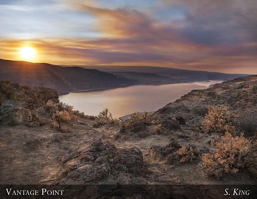 county sunset sun river washington rocks grant columbia sage gorge coulee vantage sking5000
