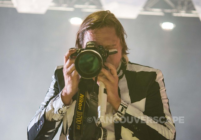 The photo pit gets lots more fun when Win Butler takes a Nikon for a spin at #vmsquamish #lowrezversion