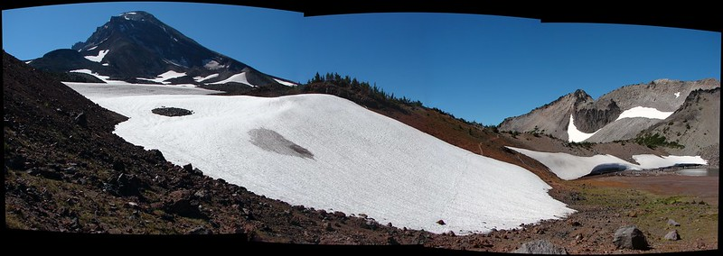 South Sister and the climbers trail