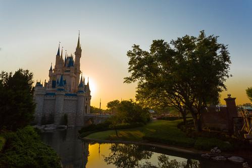 world castle sunrise magic kingdom disney 24 cinderella walt 2014 disney24