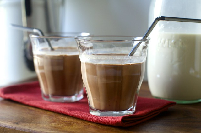 chocolate and toasted hazelnut milk