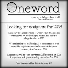 Oneword 2015 Looking For Designers