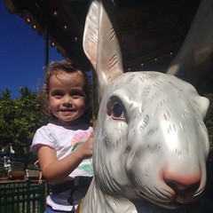 We always have to ride the #bunny on the #fantasy #carousel at #lakecompounce