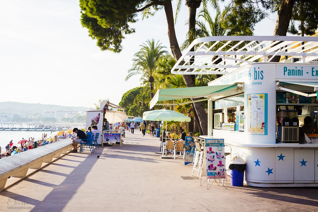 Ice-cream shops along the beach