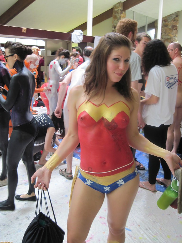 Hot cosplay teen body paint porn pic 23