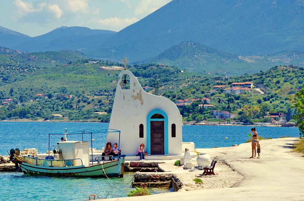 Grèce, Corinthie, ΛΟΥΤΡΆΚΙ LOUTRAKI  Vouliagmeni Lake Lac de Vouliagmeni 15