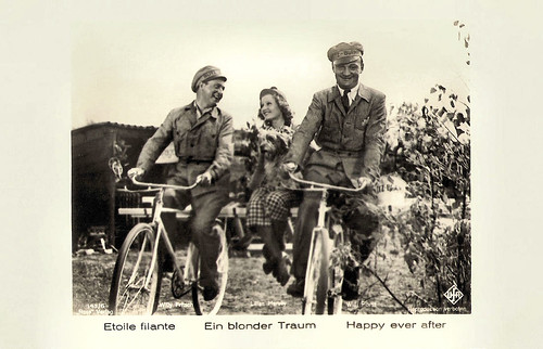 Willy Fritsch, Lilian Harvey and Willi Forst in Ein blonder Traum (1932)