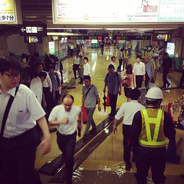 Photo:新小岩駅、水没。 By kunagecva-E