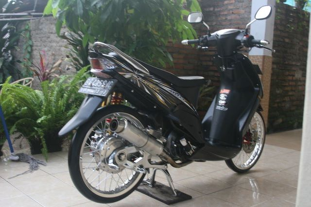 modifikasi mio sporty black  paling bagus