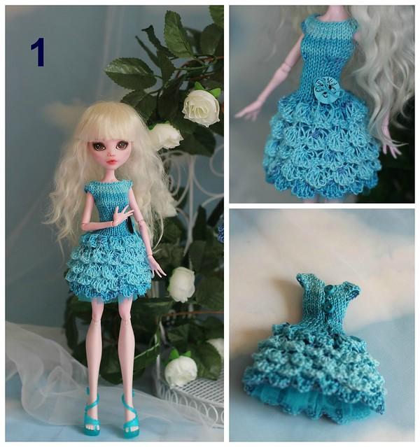 Новогодние платья для кукол монстер хай