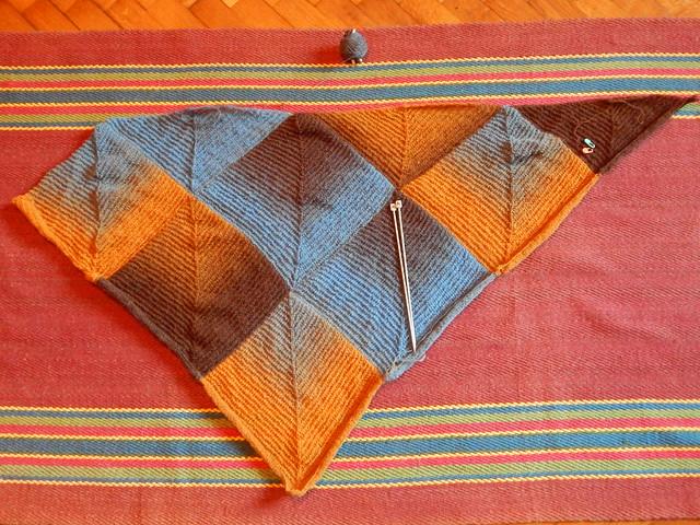 шаль без последнего треугольника
