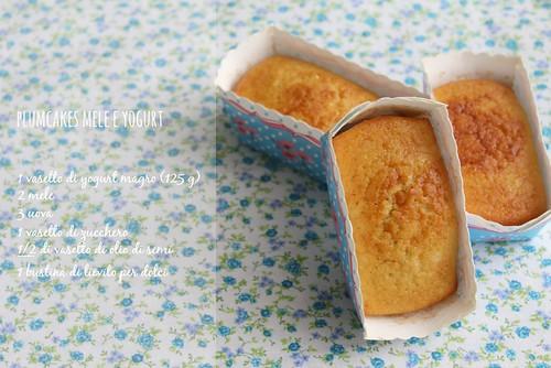 plumcakes mele e yogurt ricetta