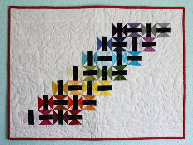 Mini Quilt received at FCMQG Quilt Retreat Summer 2014