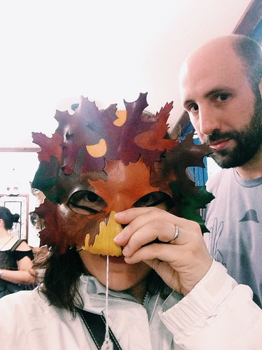 fall mask and photobomber