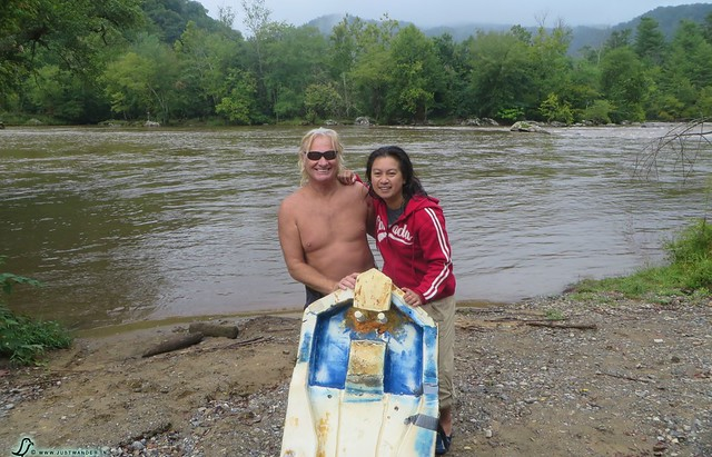PIC: Portrait - Maya and Bill against the French Broad River