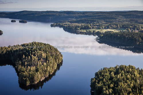 3 natur sverige swe västragötaland bengtsfors flygfoto lelång äspenäs