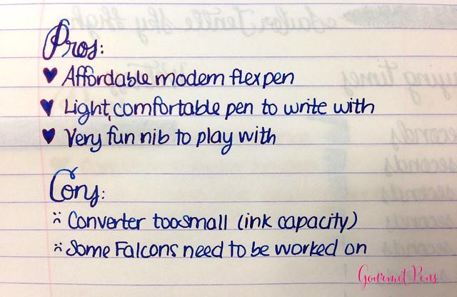 Review Namiki Falcon Black Resin Fountain Pen - Soft-Fine