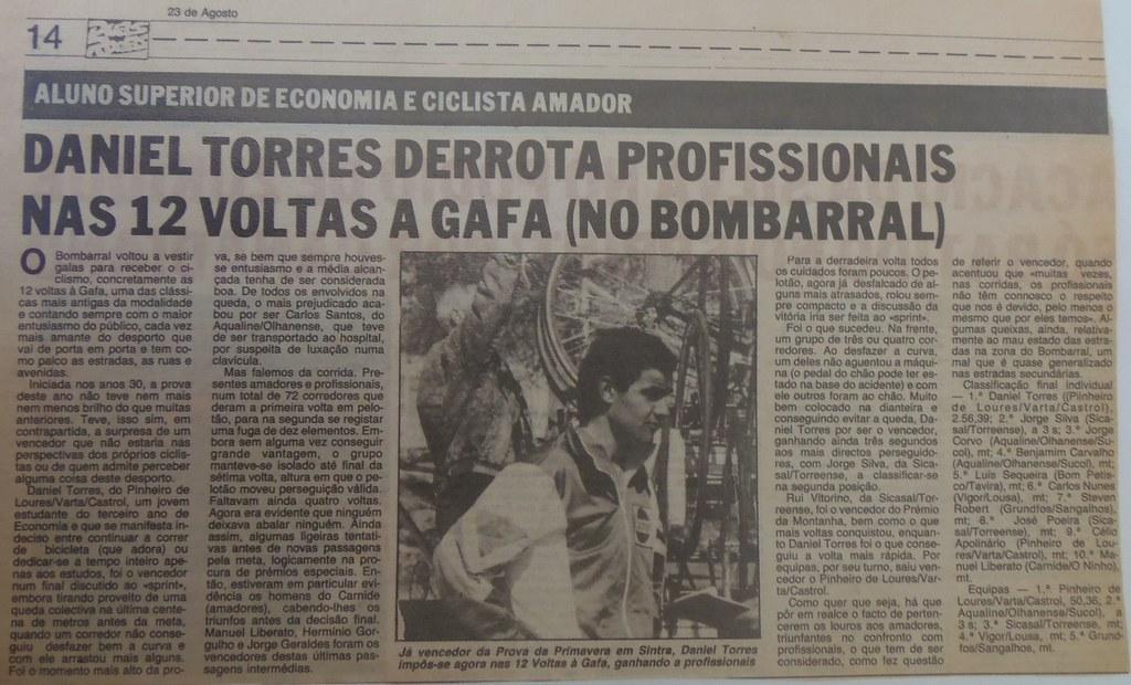 Vittoria di Daniel Torres nella 12 Voltas a Gafa 1989