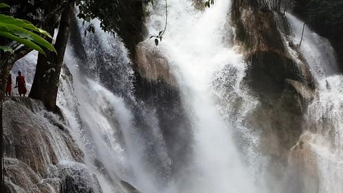 waterfall waterfalls monks laos lao luangprabang kuangsifalls kuangsi kuangsiwaterfall