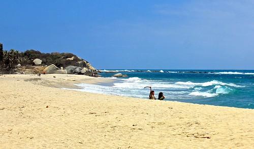 kids on Arrecifes beach