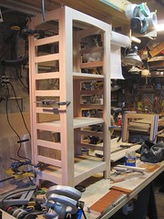 Trial assembly with shelves