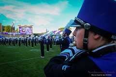 Ethereal Tones ::     The Northwestern University 'Wildcat' Marching Band performs at Ryan Field as Wildcat Football hosts California on August 30, 2014.  Photo by Daniel M. Reck '08 MSEd.