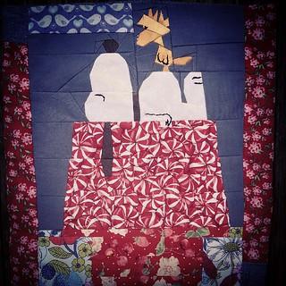 1st paperpiecing try #paperpiecing #fandominstitches #snoooy #woodstock #masterpiece #quilt #patchwork