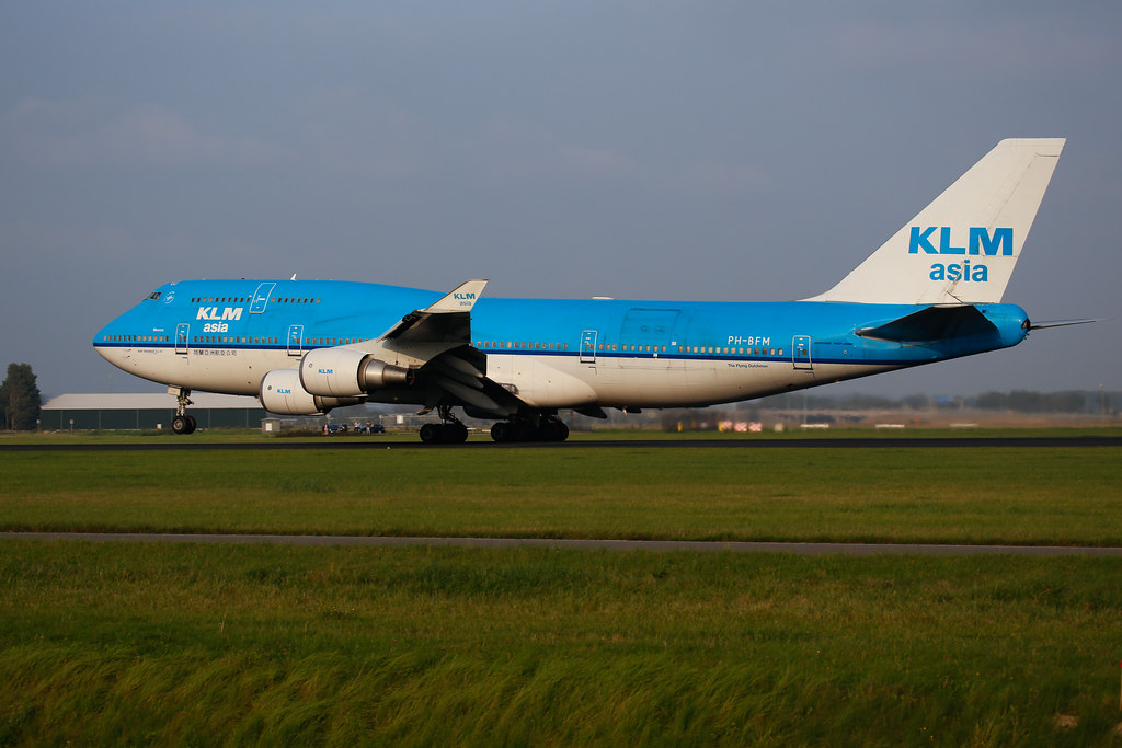 KLM Asia 'Mexico' Boeing 747-400 in Amsterdam