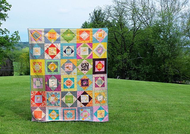 Far Far Away 2 + Hope Valley Economy Block Quilt