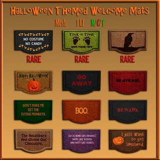 [ free bird ] Halloween Themed Welcome Mats Gatcha