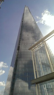 View of the Shard from the 14th floor terrace at the News Building