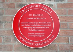 Photo of Great Britain and Isambard Kingdom Brunel red plaque