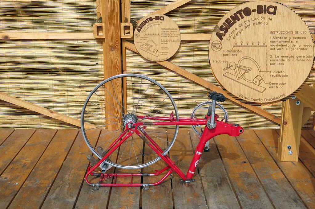 Sistema de producción de energía por pedaleo