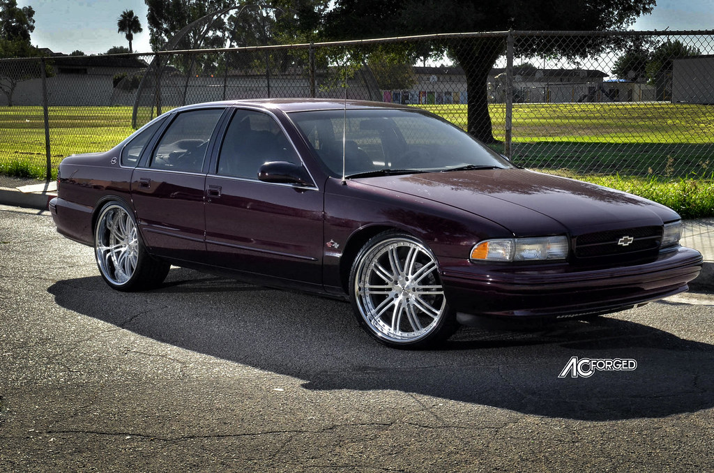 1996 Chevy Impala Ss On 22 Quot Ac Forged Split 10 Brush Face