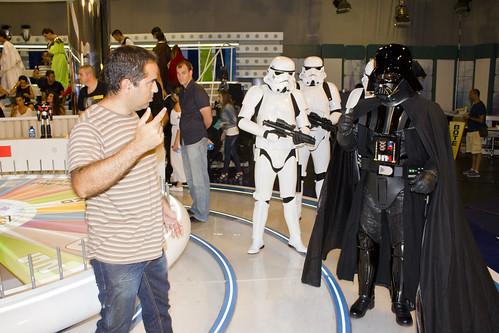 Ensayando con Darth Vader